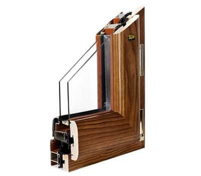 infissi alluminio legno trial